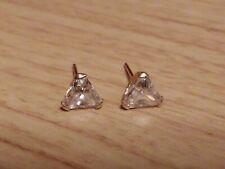 S 14K GOLD 5MM STONE EARRINGS