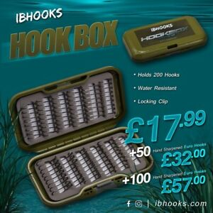 Carp hook box f box fishing hand sharpened hooks IBHOOKS