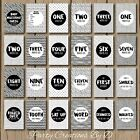 MONOCHROME NEW Baby Moments Milestones Cards 23 Pack Photo props boy girl unisex