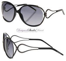 Roberto Cavalli Sunglasses Narciso Rc524 01b Black Gun Metal Oval Grey  Signature c29a803be5