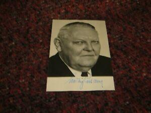 Ludwig Ehrhard CDU Orginal Autogramm auf Autogrammkarte