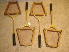 4 Vintage Spalding Fast Play Badminton Rackets with JC Higgins Presses  NICE