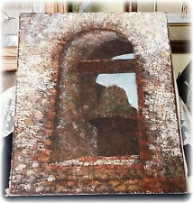 Vintage Painting of a Bell in the Tower w/ Dot Like Strokes To Create the Image