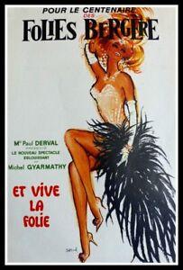 Original vintage poster - Pour le centenaire des Folies Bergère - circa 1970