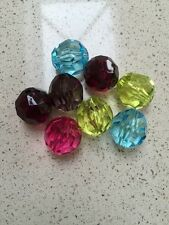 "8 Acrylic Faceted Beads 1"" Diameter (28)"