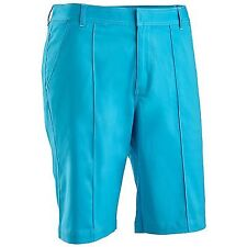 Chase54 McCoul Men's Flat Front Performance Golf Shorts Blue 34 Moisture Wicking