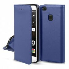 ^ Huawei Honor 7A Cover Leder-Imitat Handy Tasche Hülle Book SMART Magnet Blau