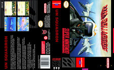 UN Squadron - SNES Reproduction Art Case/Box No Game.