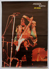 Vintage 70s JIMI HENDRIX Original Poster Portuguese Music Magazine MUSICAlíssimo