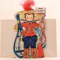 "1949 Hallmark ""Little Women"" Doll Greeting Card with Envelope. RARE!!!!"