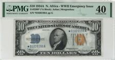1934 A $10 Silver Certificate STAR Note NORTH AFRICA FR.2309* PMG Extra Fine 40