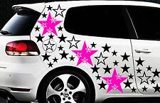 93-teiliges Sterne Star Auto Aufkleber Set Sticker 1 Tuning WANDTATTOO Blumen