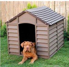 CUCCIA PER CANI GRANDI 78X84X60/80H DOG KENNEL RESINA IMPERMEABILE MARRONE BEIGE