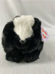 "Swibco Collection Puffkins Odie the Skunk Plush Toy 4"" Tall Stuffed Animal 1997"