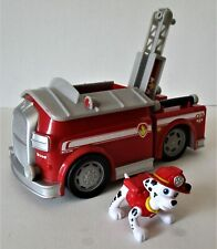 Paw Patrol Marshall's Fire Engine W/Figure Spinmaster Makes Sounds - WORKS!!