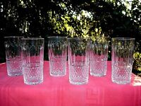 SAINT LOUIS TOMMY 6 HIGHBALL WHISKEY GLASSES 6 VERRES GOBELET A WHISKY CRISTAL A