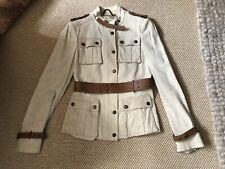 BURBERRY Prorsum Linen Military Safari Beige Jacket