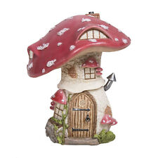 Vivid Arts Miniature World Red Toadstool Cottage Enchanted Fairies Collectable