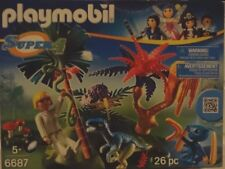 PLAYMOBIL Super 4 Lost Island with Alien and Raptor Action Figures.