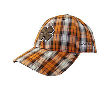 NEW Black Clover Live Lucky Plaid BC Style #3 Orange/White/Brown Adjustable Hat