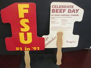FSU #1 IN 91 FAN W. BOBBY BOWDEN'S FAVORITE BEEF RECIPE ON BACK @DOAK CAMPBELL