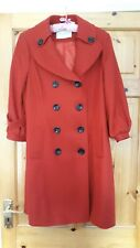 Edina Ronay Red Wool Blend Coat UK Size 16