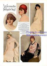 Frühjahrsmode Frühling 1929 1 Seite Fotoabb 20er Jahre Hut Mode Inge Lyn Maybaum