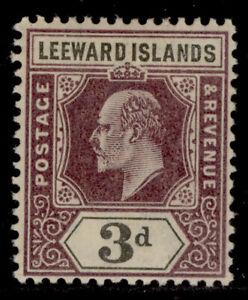 LEEWARD ISLANDS SG24, 3d dull purple and black, M MINT. Cat £10.