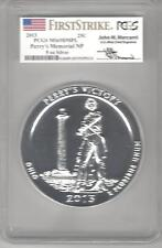 2013 MS 69DMPL Peery's Memorial 5 oz silver  PCGS FirstStrike Mercanti signed