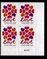 #5339 2019 Hearts Blossom (Love) Plate Block - MNH