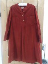Beautiful TOAST Burnt Orange A-Line Soft Corduroy Tunic Dress Size 12