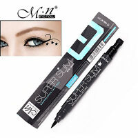 Trendy Black Liquid Eyeliner Pen With Star Shape Stamp Waterproof Liner - 1pc