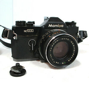 Vintage 35mm SLR Film Camera Auto Mamiya nc1000 Sekor Lens 1:1.7 Parts/Repair