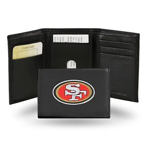 San Francisco 49ers NFL Team Logo Embroidered Leather TRIFOLD Wallet
