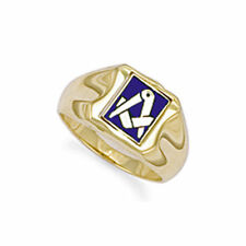 9ct Gold Masonic Swivel Ring - Size T - 7.3 grams