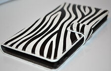 Zebra Pattern For Sony Xperia Z1 L39 Leather Wallet Flip Card Cash Case Cover