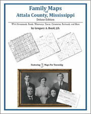 Family Maps Attala County Mississippi Genealogy MS Plat