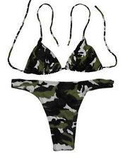 US Army Camouflage Women Underwear Swimsuit Bikini Set L