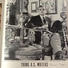 """Truman Capote SIGNED 1944 Magazine Page  Young Writers  """"In Cold Blood"""""""