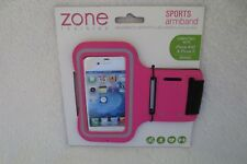 Zone Training Sports Armband Adjustable Iphone 4/4 I phone 5 Pink New