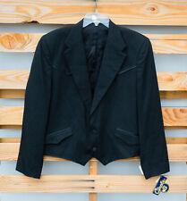 NEW Circle S Shenandoah Western Poly Wool Black Tuxedo Suit Jacket Sz 44L