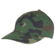 MFH Mens Baseball Cap Army Military Tactical Adjustable Strapback Woodland Camo