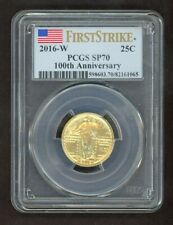 2016-W Standing Liberty Gold 25C First Strike 100th Anniversary PCGS SP70