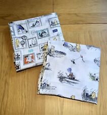 2 Aden+Anais Large Cotton Muslin Swaddles / Blankets, Winnie The Pooh - VGC