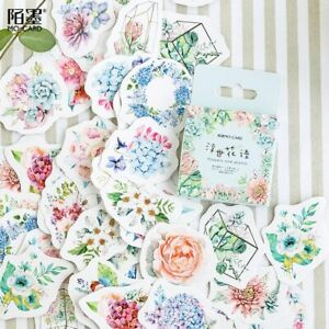 stickers flower plant artistic Japanes Scrapbook Diary Paper Kawaii Decorative