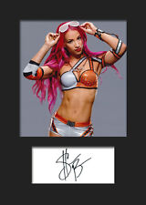 SASHA BANKS #1 (WWE) Signed (Reprint) Photo A5 Mounted Print - FREE DELIVERY
