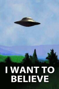 "I Want to Believe Movie Poster Film Art Silk Print 12x18"" 24x36"""