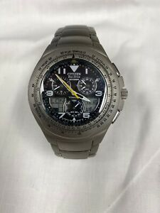 Citizen Eco-Drive Skyhawk Titanium Wrist Watch