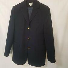 LL Bean Size 8P Navy Blue Equestrian Riding Jacket Blazer 3-Golden Buttons NWOT
