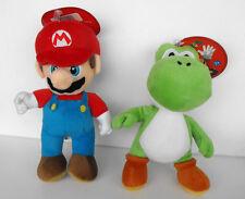 Rare Nintendo Mario Bros and Yoshi Green plush set 9 inches 2010 MINT